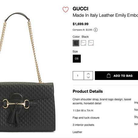 Gucci Handbags On Sale At TJMaxx