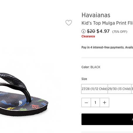 5$ Kids Havaianas And Outfits At SaksOff5th
