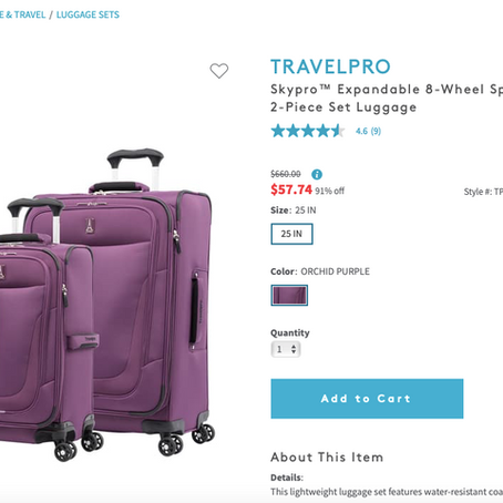 RUNNNN!! Insane Deals On Luggage At Nordstrom Rack Over 90% OFF