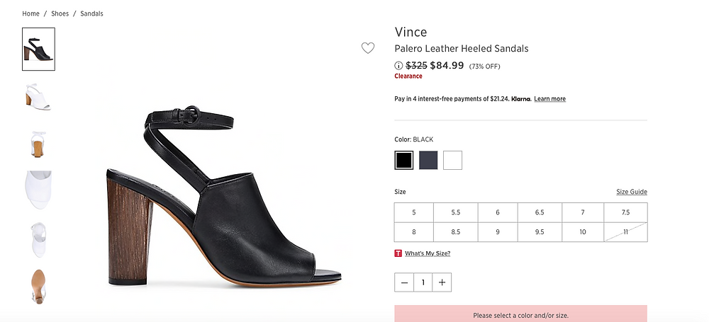 Vince Palero Leather Heeled Sandals Price reduced from$325 to $84.99 (73% OFF)