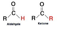 What is the difference between a ketone and aldehyde?