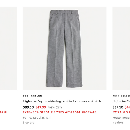 JCrew Extra 50% Off Sale Items