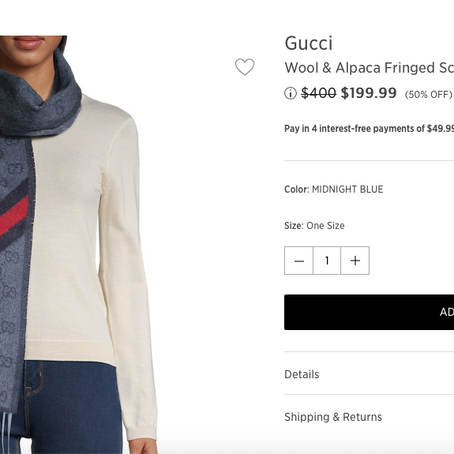 Gucci Scarfs And Watches On Sale At SaksOff5th
