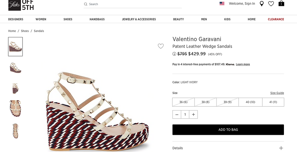 Valentino Garavani Patent Leather Wedge Sandals