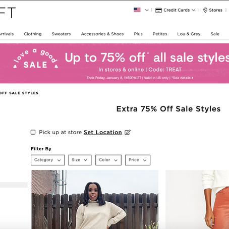 Extra 75% Off At Loft On Sale Items