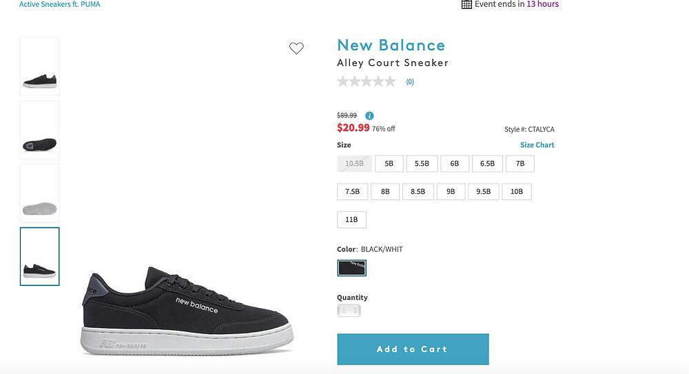 New BalanceAlley Court Sneaker  $89.99Information $20.9976% off