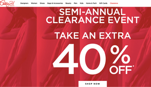 Century 21 Semi-Annual Sale