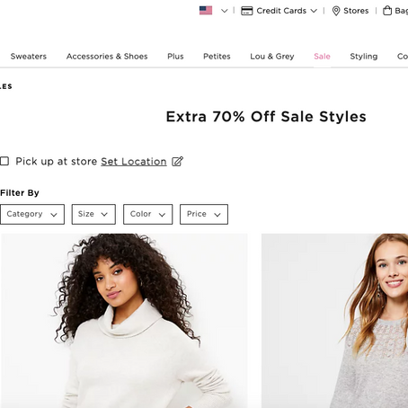 Extra 70% OFF Sale Prices At Loft