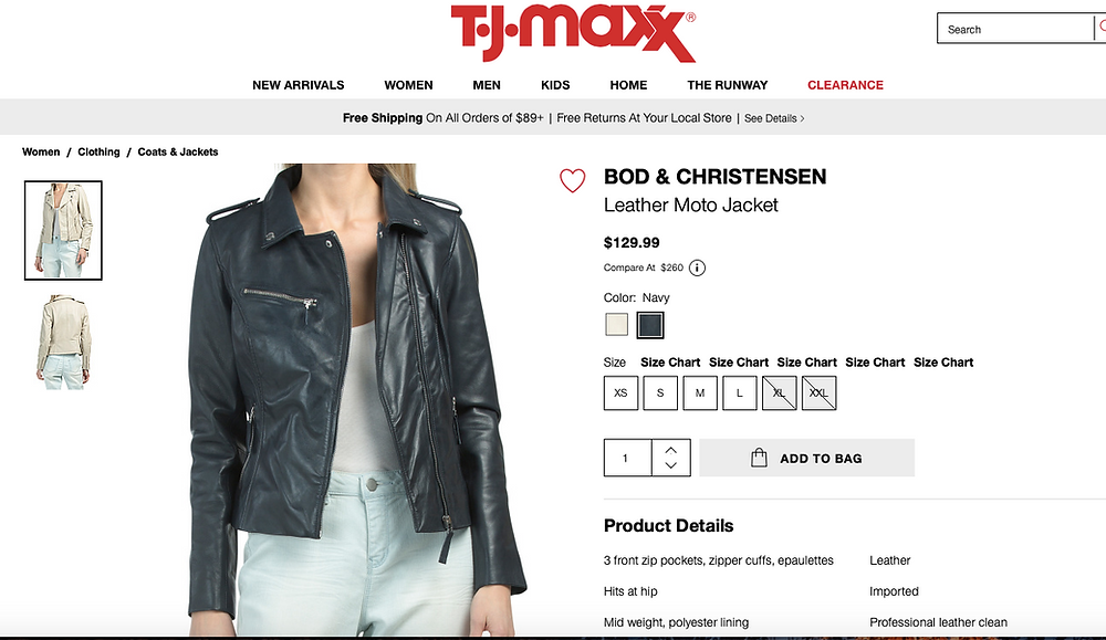BOD & CHRISTENSEN Leather Moto Jacket On Sale