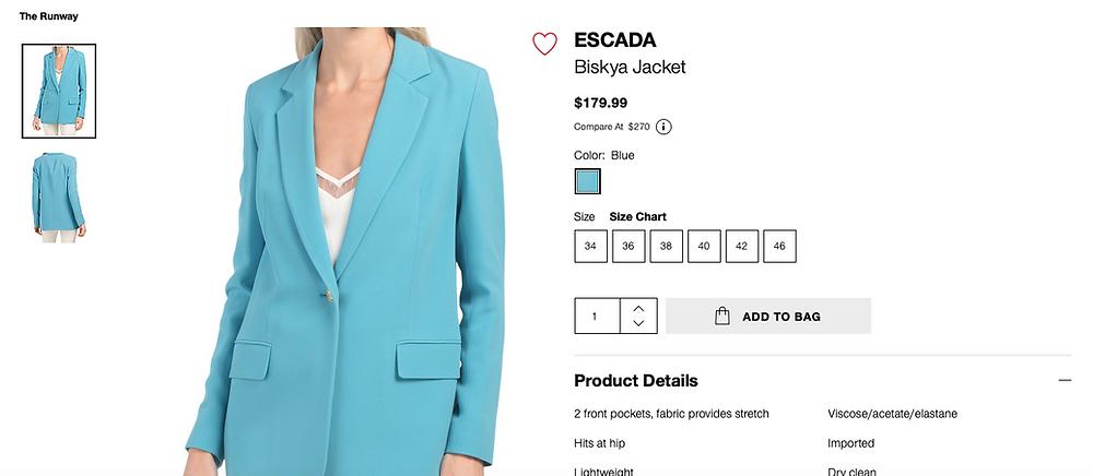 ESCADA Biskya Jacket  $179.99