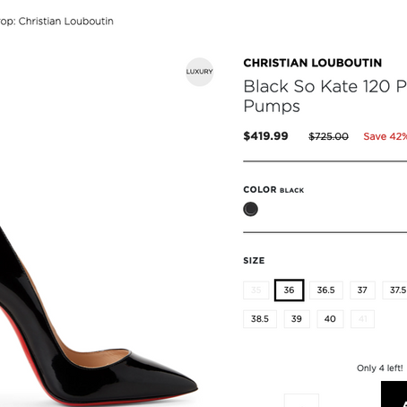 Crazy Christian Louboutin Sale At Century 21 Up To 50%!