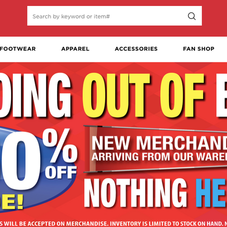 Modell's Going Out Of Business Sale
