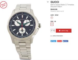 GUCCI Men's Swiss Made G Timeless Bracelet Watch