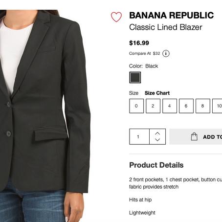 Banana Republic Under 20$ At TJMaxx