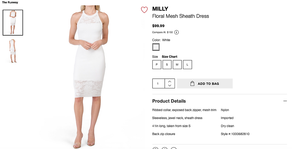 MILLY Floral Mesh Sheath Dress In White $99.99
