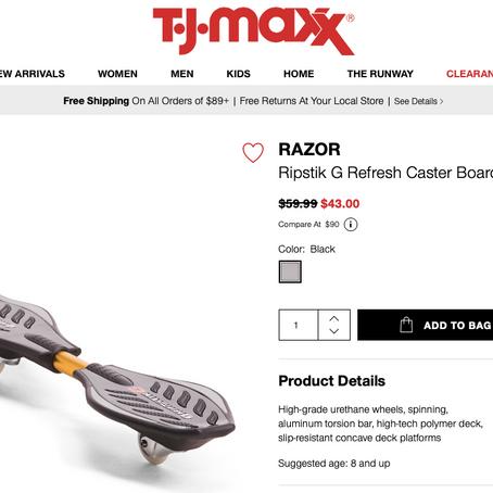 RAZOR Ripstik G Refresh Caster Board is $43 At TjMaxx