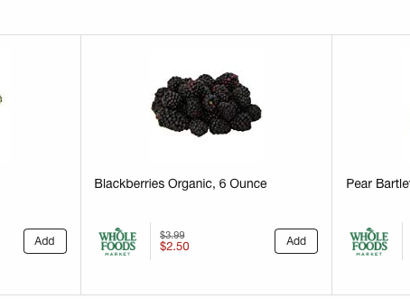 Whole Foods Weekly Sales 09/11-09/18