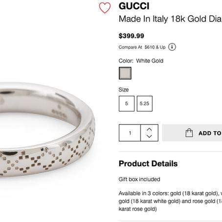 Gucci Jewelry On Sale At TJMaxx