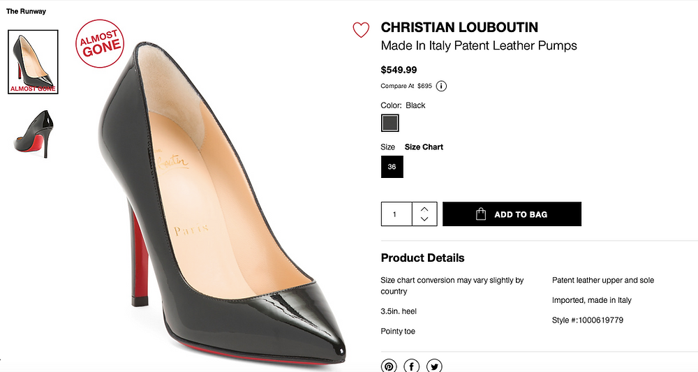 CHRISTIAN LOUBOUTIN Made In Italy Patent Leather Pumps  $549.99