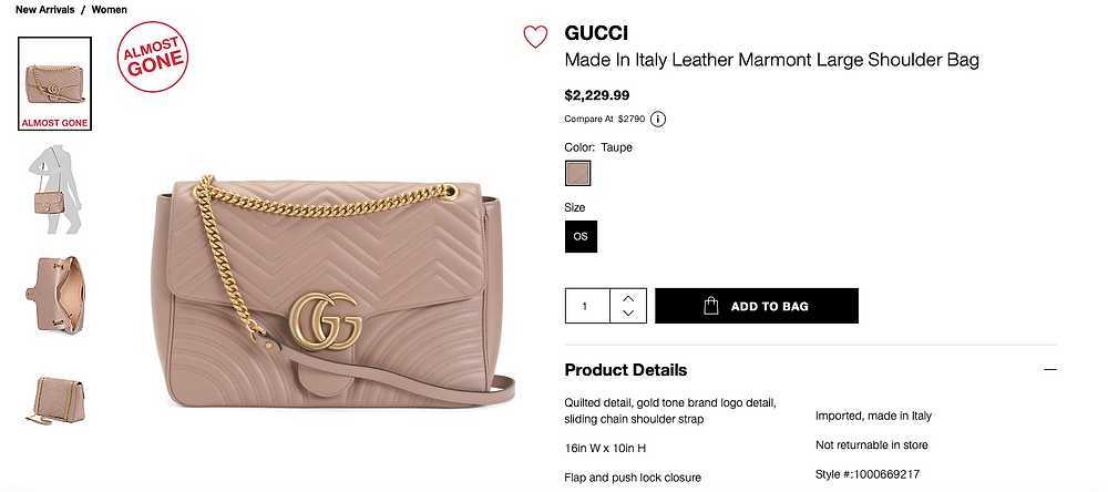 GUCCI Made In Italy Leather Marmont Large Shoulder Bag  $2,229.99