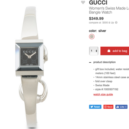 Gucci Watches On Sale At TJMaxx, Starting At $350