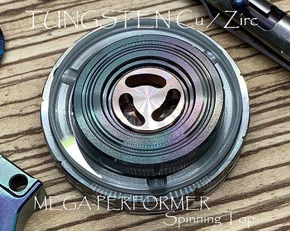 MEGA-PERFORMER Spinning Top Tungsten Copper / Flamed Zirconium / Ruby bearing