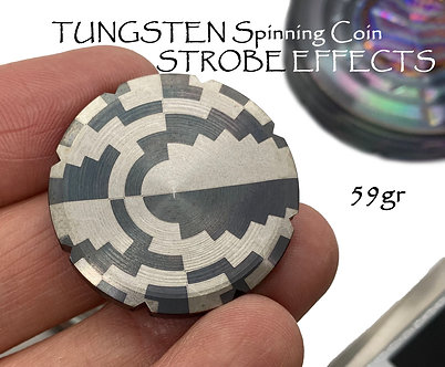 STROBE effects Tungsten Spinning Coin Stress relief Tungsten Carbide bearing
