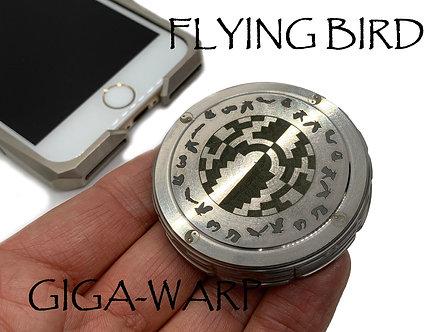 Flying Bird STROBE effects Titanium Giga-Warp Spinning Top