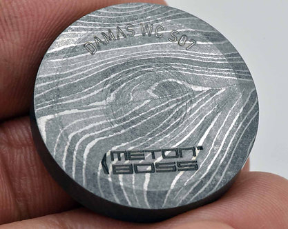 DAMASCUS Steel Worry Coin Old World Stress Relief  Custom Metal Coin