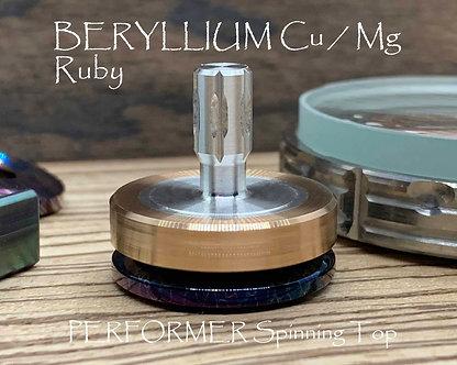 Beryllium Copper Spinning Top Lightweight Magnesium Stem Ruby Bearing EDC