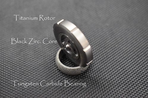 MetonBoss Black Zirconium Titanium Spinning Top FrontView