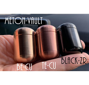 Meton-VAULT Pill Box Beryllium Copper, Te-Cu & Zirconium Waterproof Unbreakable