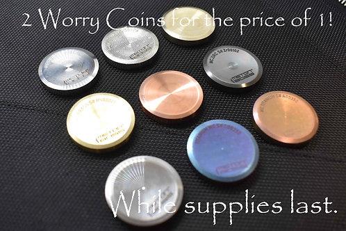 MetonBoss Niobium Worry Coin, Molybdenum, Zirconium, Tungsten, Nickel, Titanium, Copper