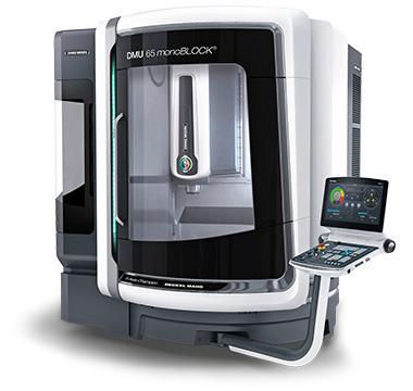 5-AXIS MILL - DMU 65 monoBLOCK fast swivel rotary table, and is the most compact machine in its class - Kizan Precision Engineering, Inc - www.KizEng.com