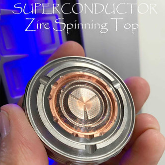 Machined SUPERCONDUCTOR Zirconium GIGATron Spinning Coin with Ruby Bearing