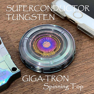 Flamed SUPERCONDUCTOR TUNGSTEN GIGA-Tron Spinning Top Long spins Stress relief