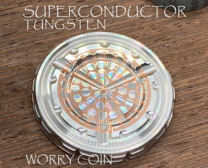 Superconductor Big Dots / Tungsten MEGA-TRON Worry Coin Fidget Toy Pocket Toy