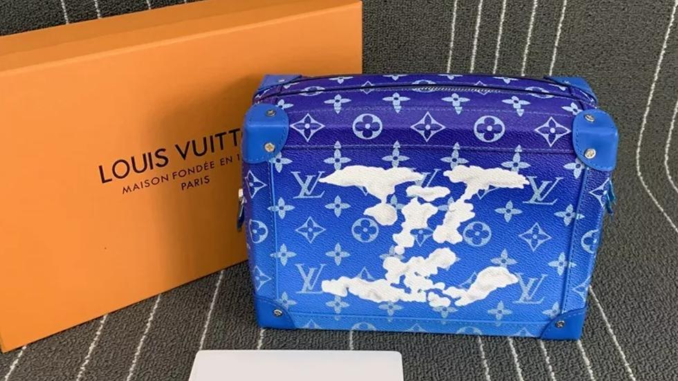 LOUIS VUITTON Soft Trunk Bag Monogram Cloud Blue
