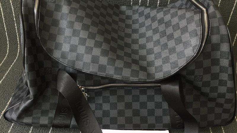 Louis Vuitton Keepall Bandouliere Bag Damier, Graphite
