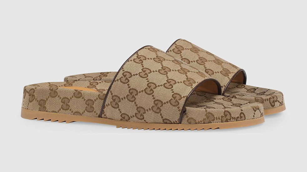 Gucci GG canvas slide sandals