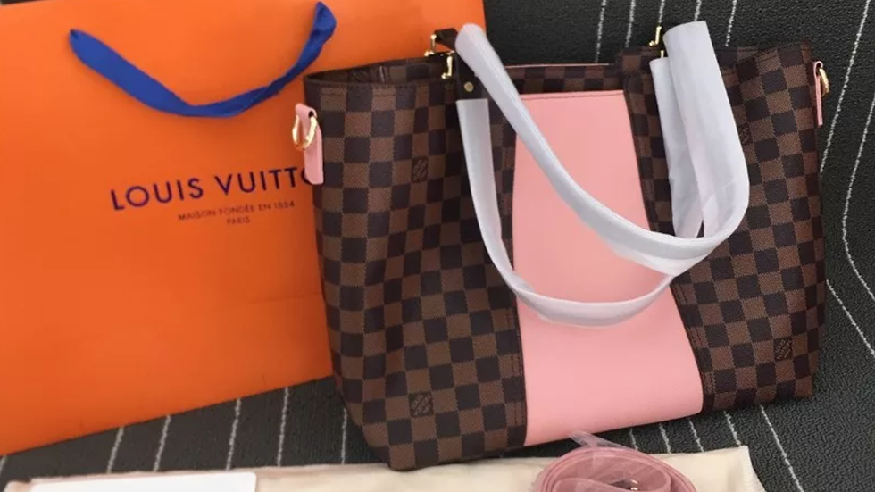 Louis Vuitton Jersey In Magnolia Pink Leather Tote