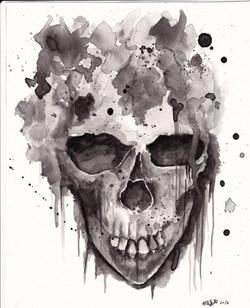 skullwatercolour