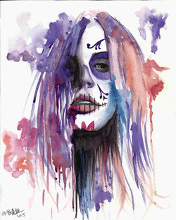 dayofthedeadwatercolour