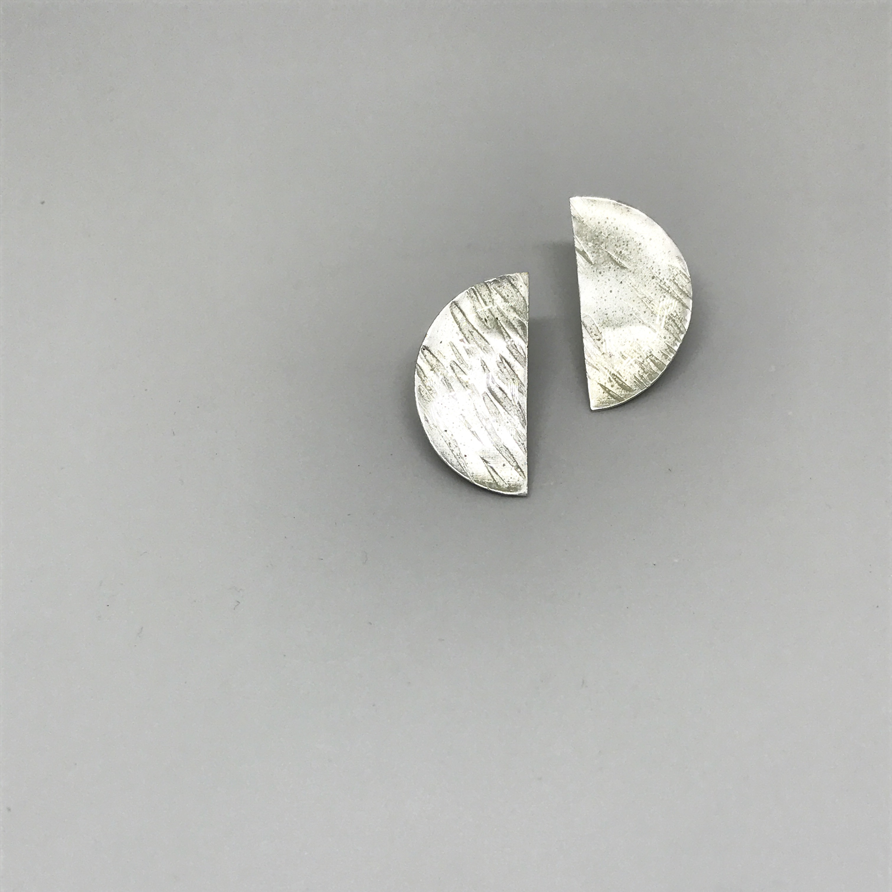 half moon pierced earrings