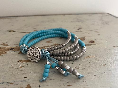 BoHo Leather Bracelet Kit Turquoise/Taupe