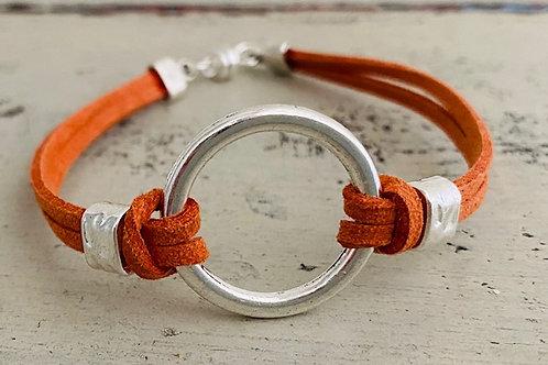 Endless Ring Microsuede Bracelet Kit Orange