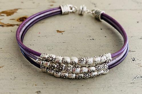 Starflower Leather Bracelet Kit Purple