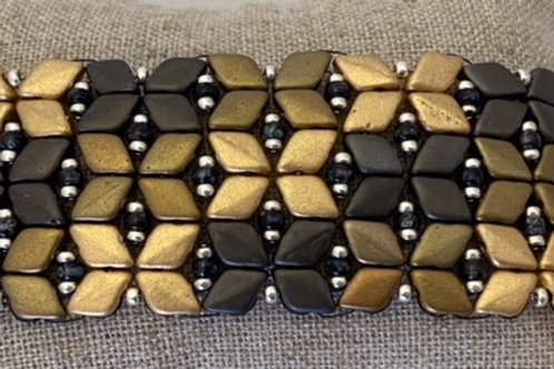 Diamond Star Bracelet Kit Gray/Gold