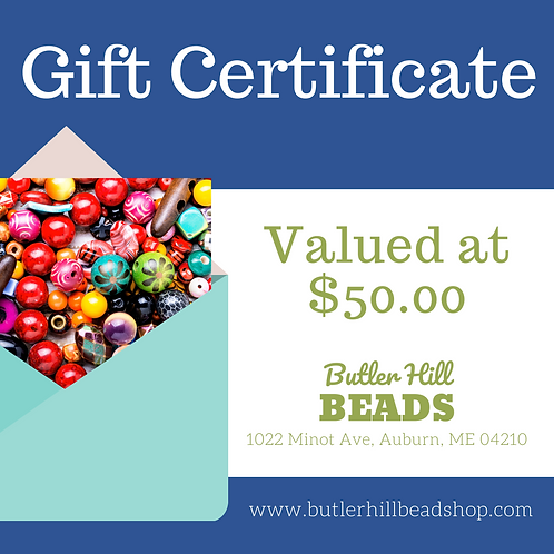Gift Certificate Valued at $50