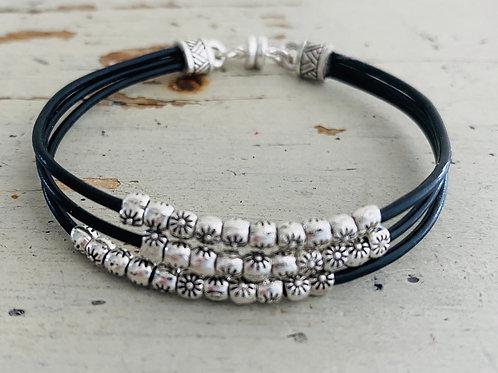 Starflower Leather Bracelet Kit Black